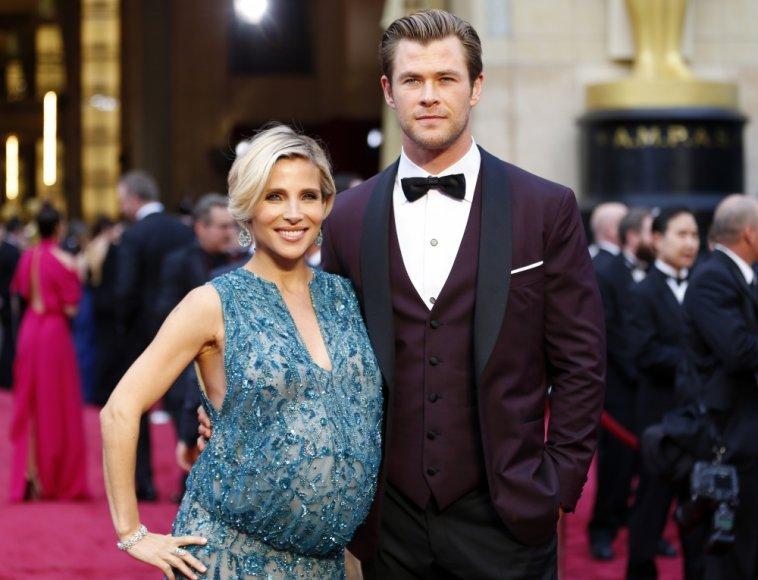 Chrisas Hemsworthas su žmona Elsa Pataky