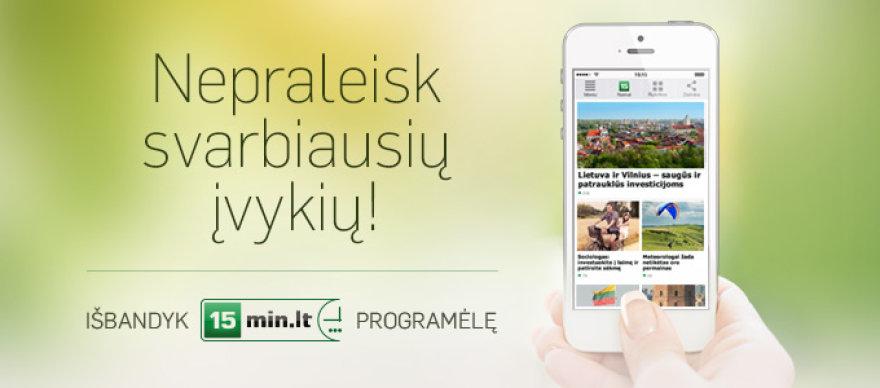 15min.lt mobili programėlė