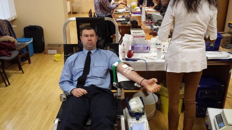 Neatlygintinos kraujo donorystės akcija Pravieniškių pataisos namuose-atvirojoje kolonijoje