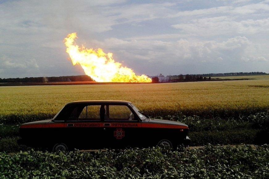 Sprogimas per Ukrainą einančiame dujotiekyje