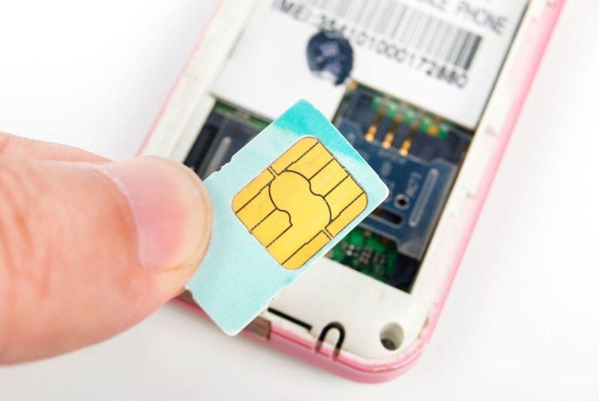 Telefonas ir SIM kortelė