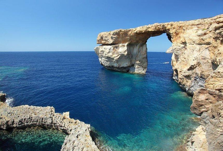 Gozo salos įžymybė – Mėlynasis langas.