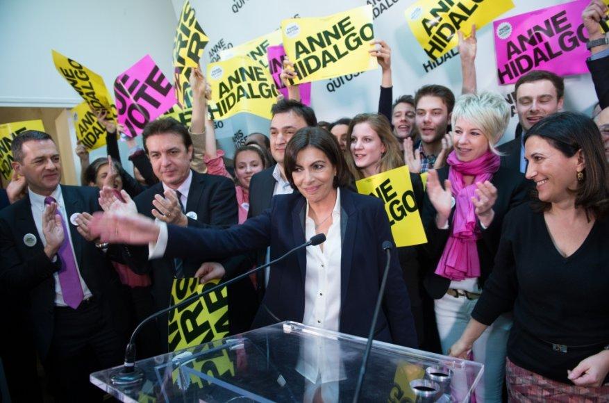 Socialistų kandidatė į Paryžiaus merus Anne Hidalgo
