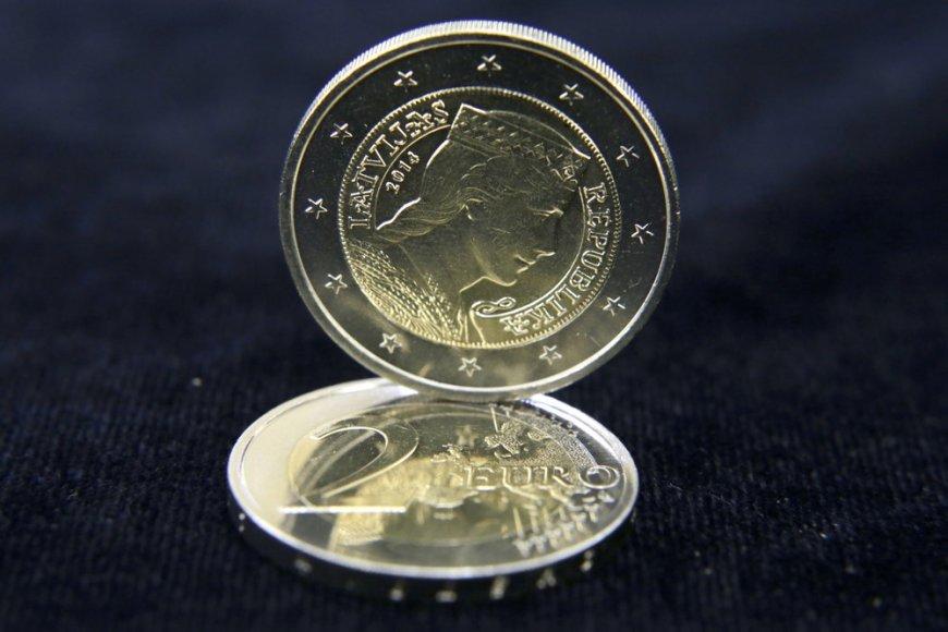 Latvijos dviejų eurų monetos