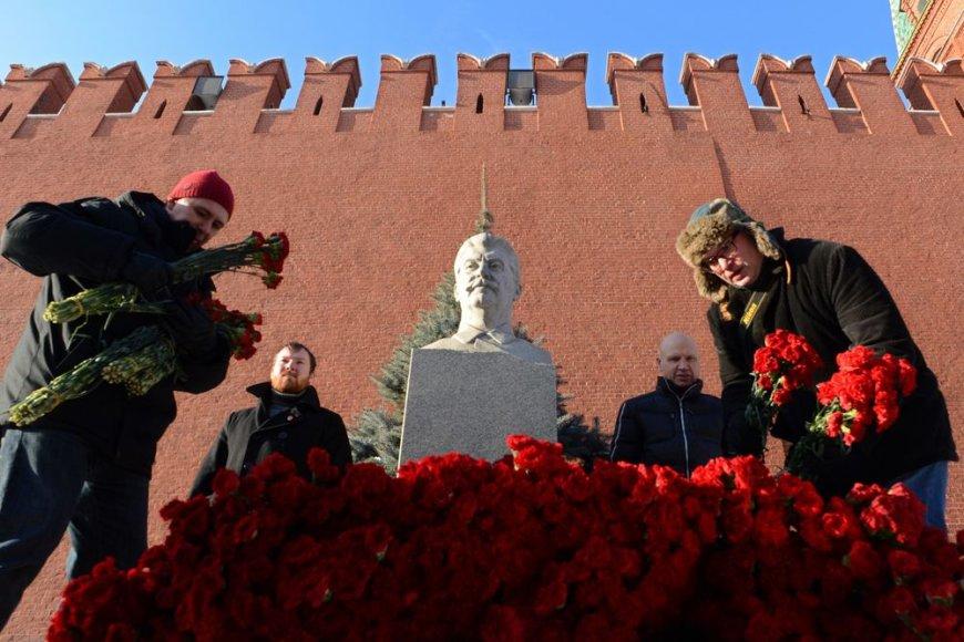 Maskvoje minimios Josifo Stalino mirties metinės