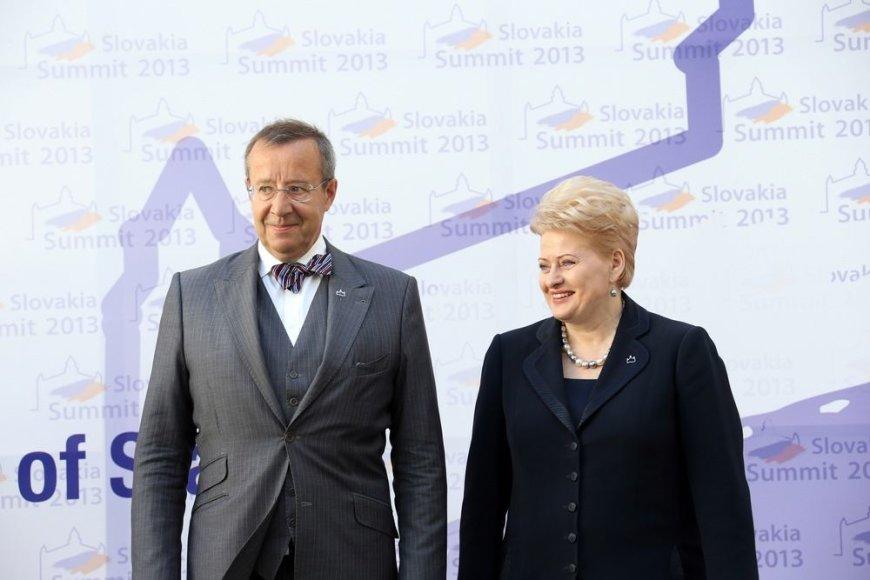 Estijos prezidentas Toomas Hendrikas Ilvesas ir Dalia Grybauskaitė