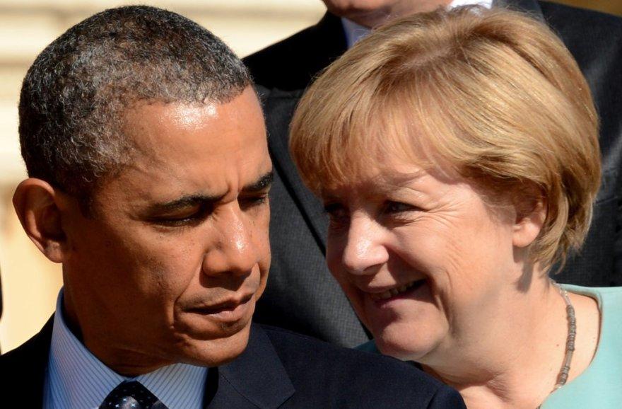 USA president Barack Obama ja Saksa liidukantsler Angela Merkel.