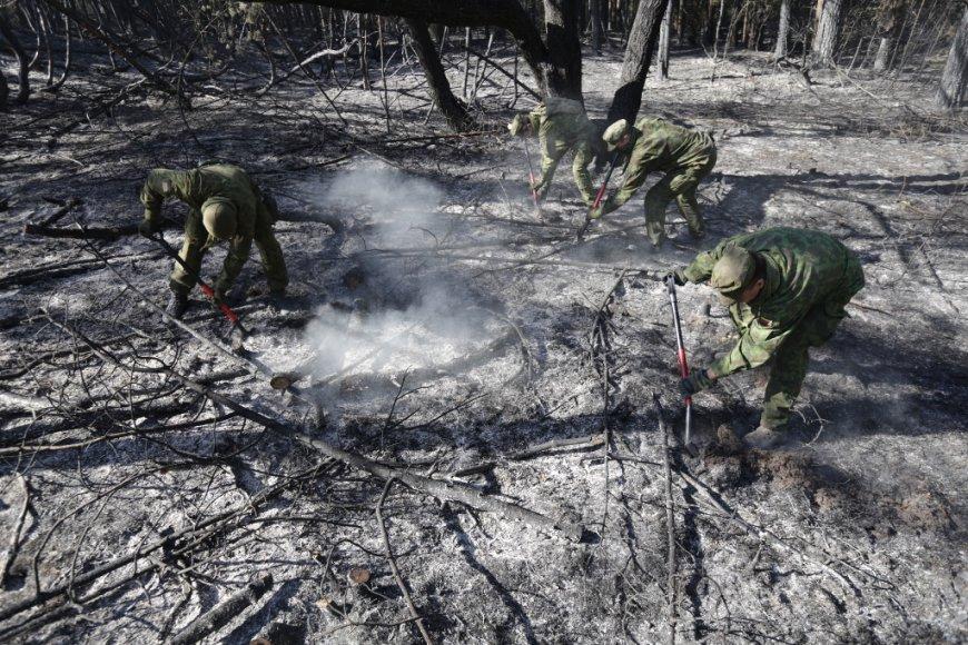 Kariai gesina gaisrą