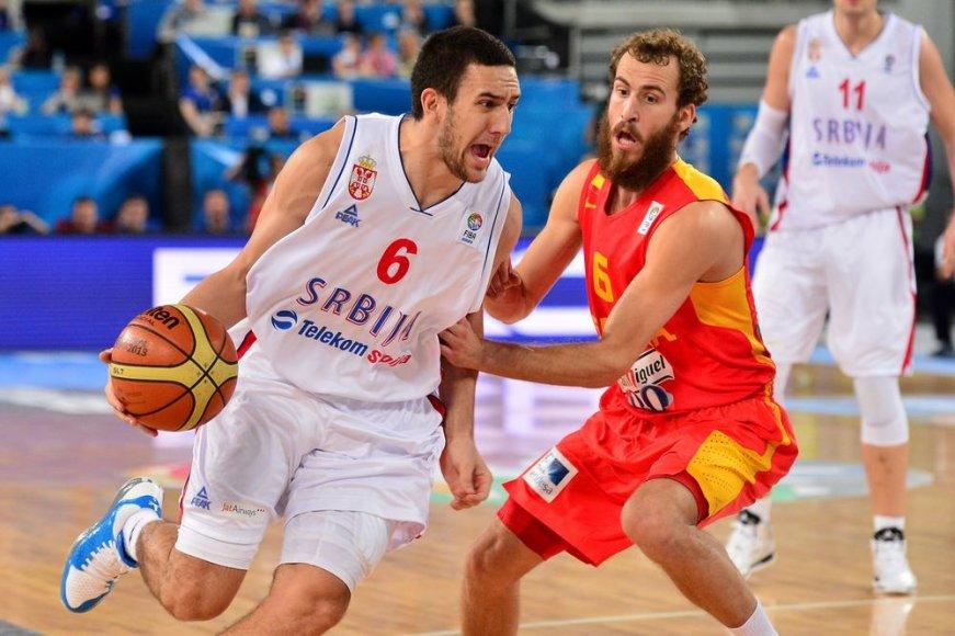 Vasilije Micičius ir Sergio Rodriguezas