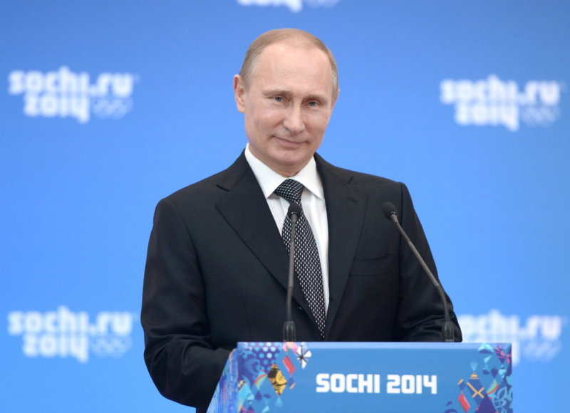 ITAR-TASS: SOCHI, RUSSIA. FEBRUARY 7, 2014. President of Russia Vladimir Putin speaks at his reception for high profile guests of the 22nd Winter Olympic Games in Sochi in Sochi. (Photo ITAR-TASS / Alexei Nikolsky)