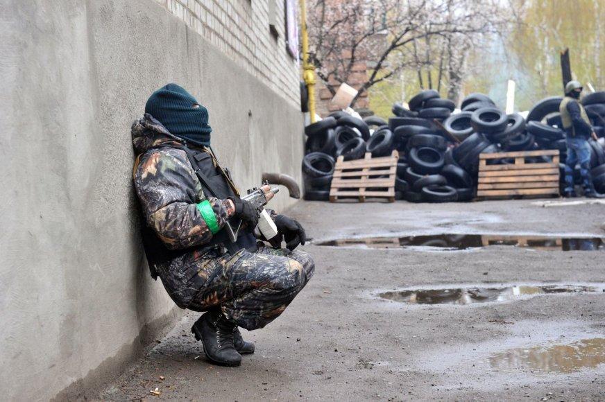 Separatistas netoli barikadų Slovjansko mieste