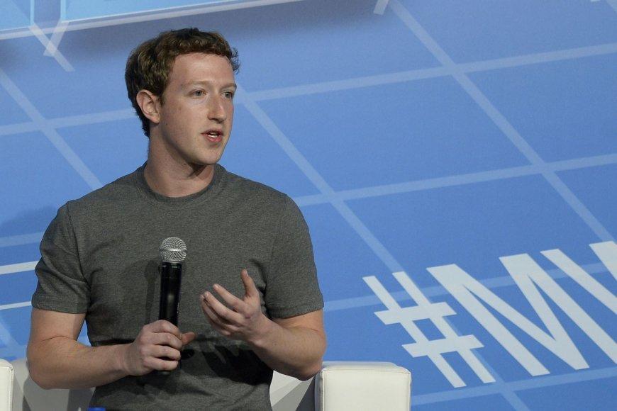 Markas Zuckerbergas technologijų parodoje MWC 2014