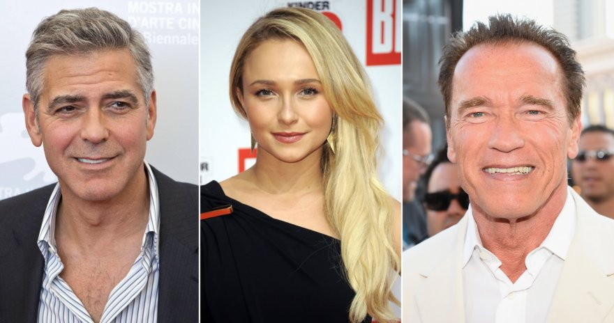 George'as Clooney, Hayden Panettiere ir Arnoldas Schwarzeneggeris