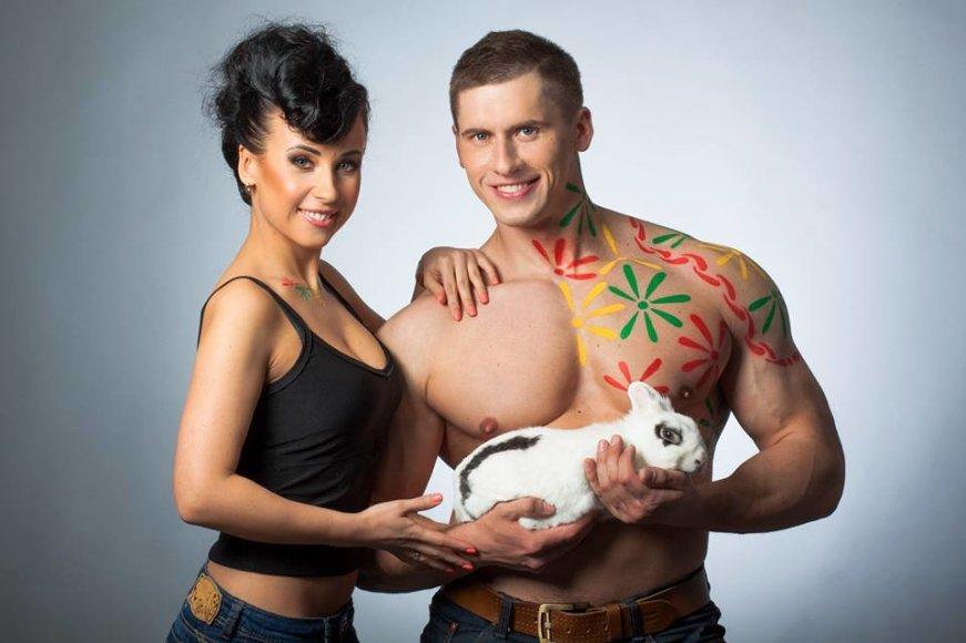 Deividas Dubinas su žmona Edita