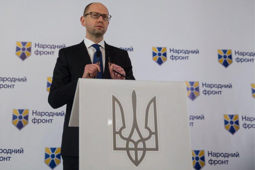Ukrainos premjeras Arsenijus Jaceniukas