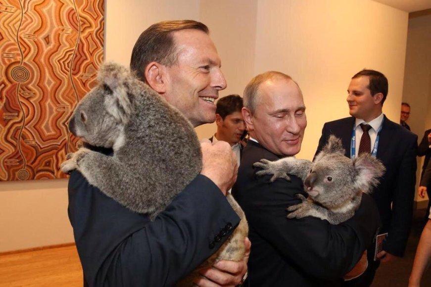 Vladimiras Putinas laiko koalą