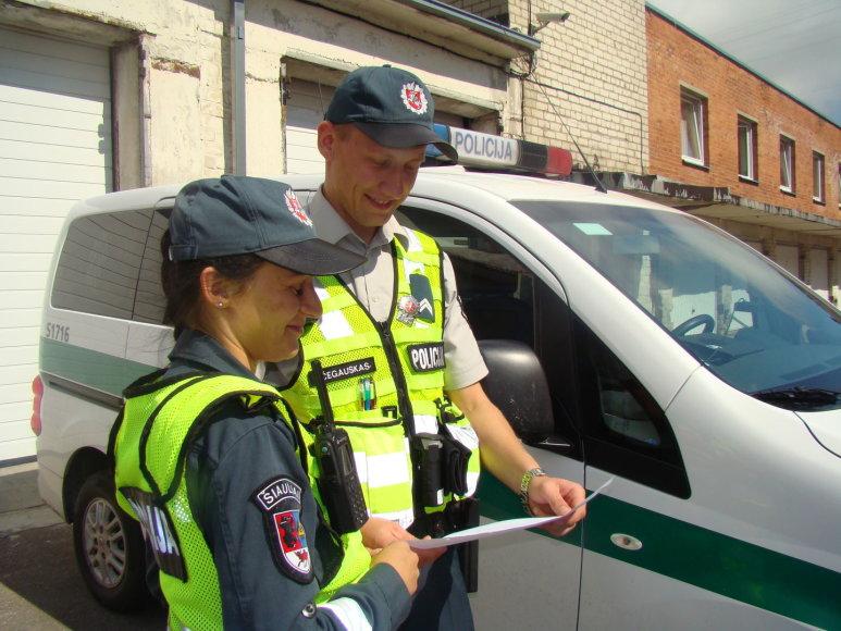 Šiaulių policijos pareigūnai