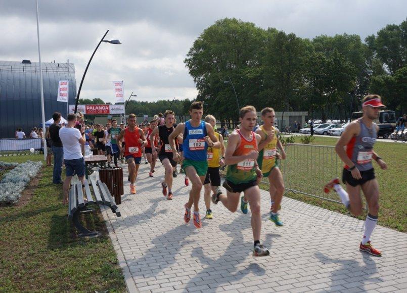 10km bėgimo startas