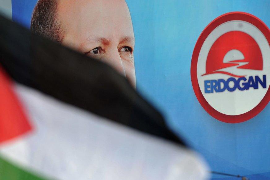 Turkijos premjero Recepo Tayyipo Erdogano rinkimų kampanija