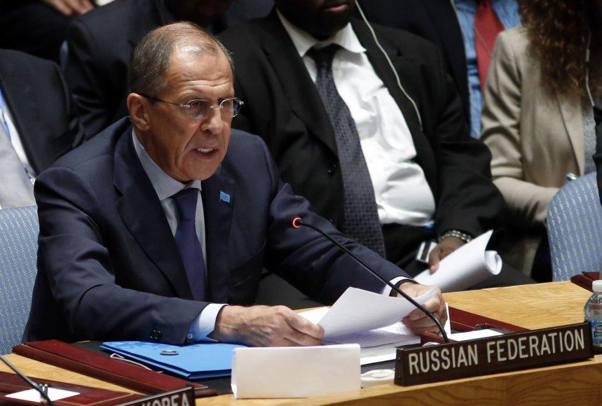 Sergejus Lavrovas JT Saugumo taryboje