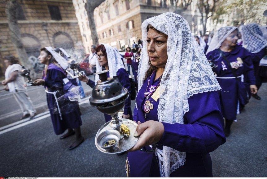 Peru katalikų procesija