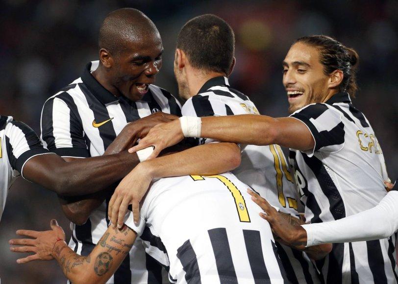 """""""Juventus"""" džiaugsmas išplėšus pergalę"""
