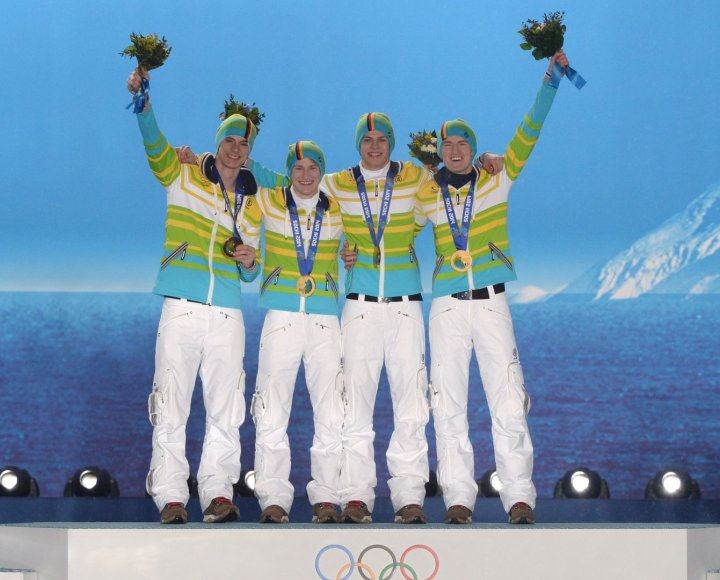 Vokietijos šuolininkų sus lidiėmis rinktinė, olimpinė čempionė