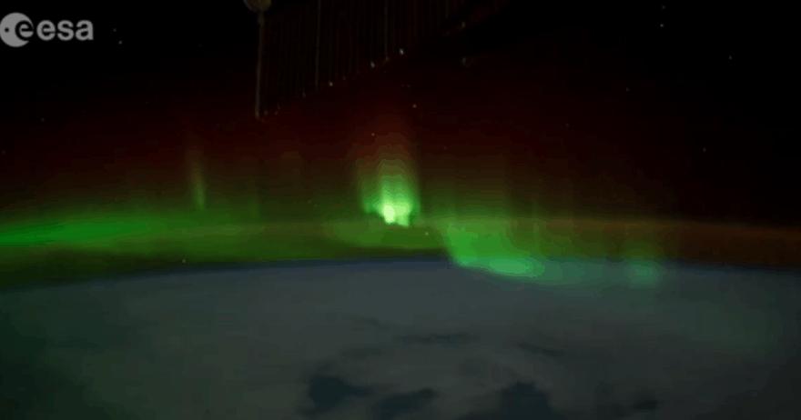 Šiaurės pašvaistė iš TKS