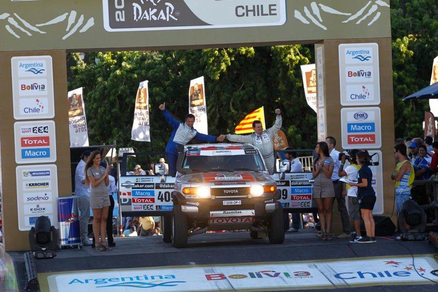 Dakaro ralio starto podiumas