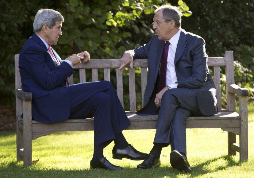 S.Lavrovas ir J.Kerry