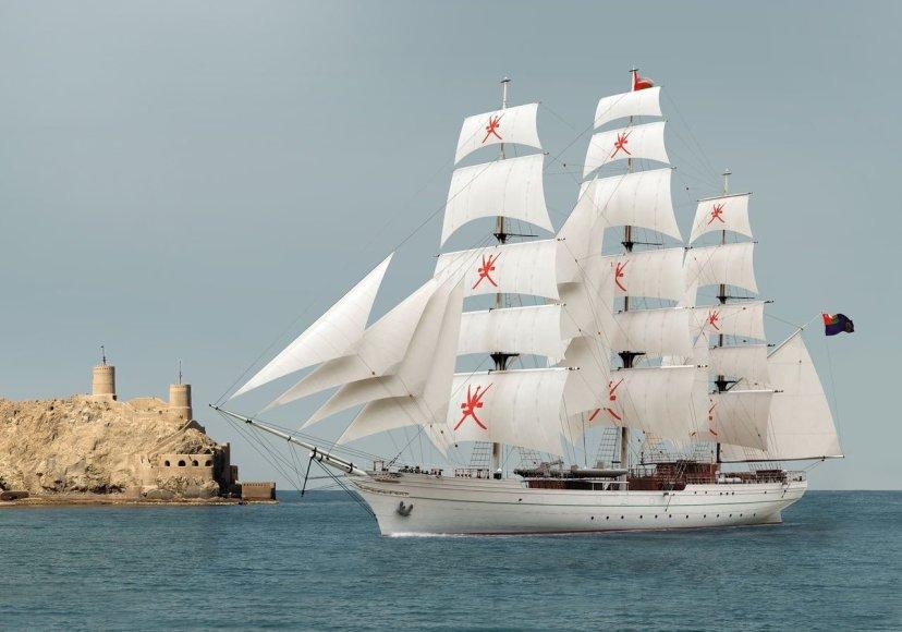 """Į Klaipėdą šią vasarą atplauks burlaivis """"Shabab"""" iš Omano Sultanato"""