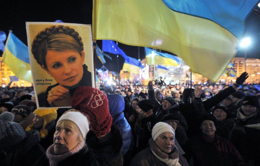 Julijos Tymošenko šalininkų mitingas