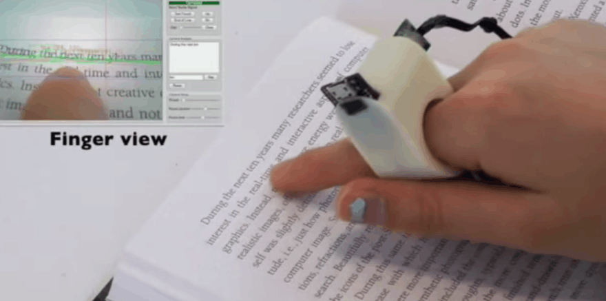 Pirštų skaitytuvas Finger Reader