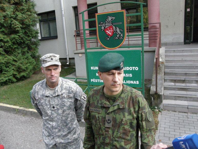 Toddas Brownas (kairėje) ir Vytautas Baltrūnas