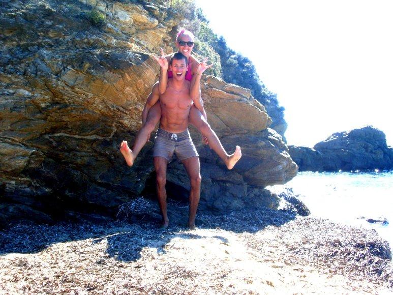 Bikini porelė Rolandas ir Skirmantė, Graikija, Skiathos sala.