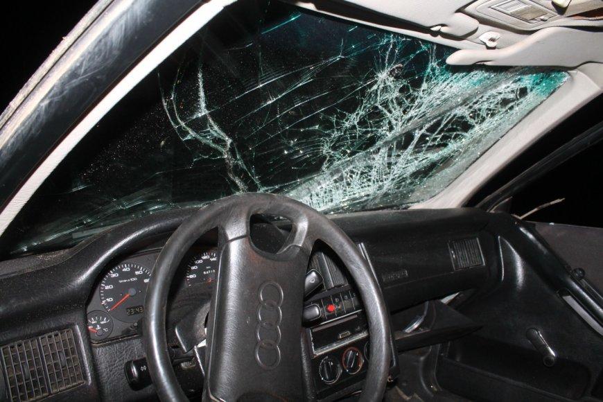 """Pavogtas ir sudaužytas """"Audi 80"""""""