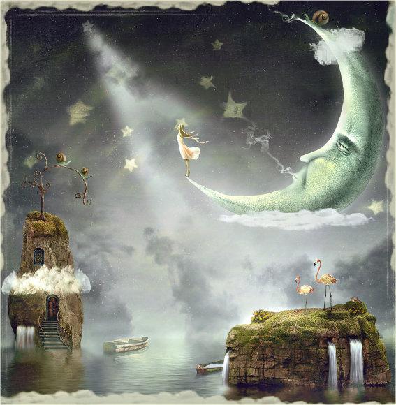 Mėrgina ir Mėnulis