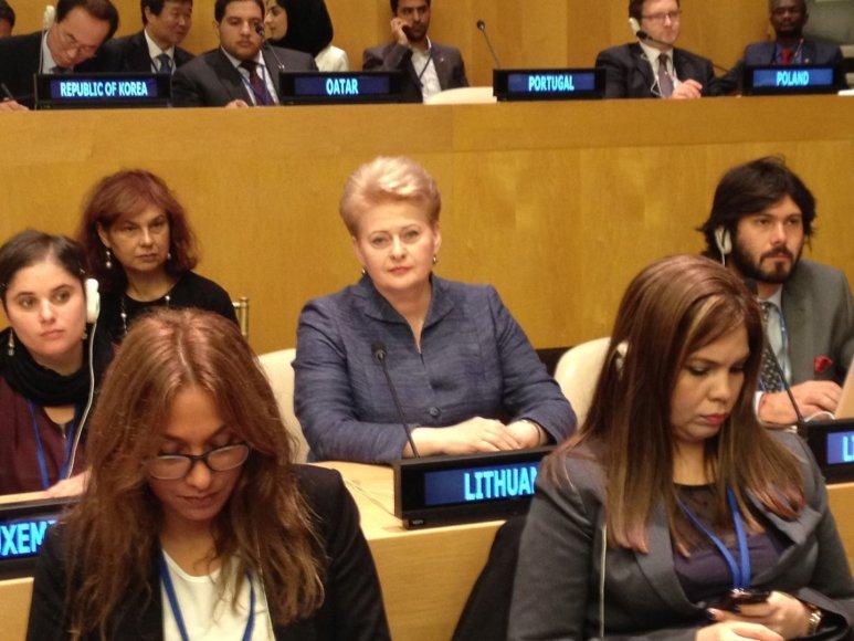Dalia Grybauskaitė Niujorke