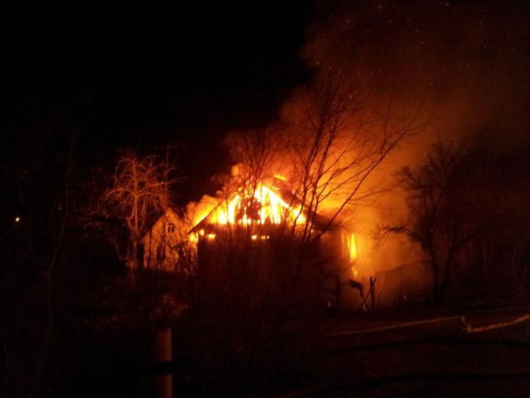 Namo gaisras Kalno gatvėje, Pasvalyje.