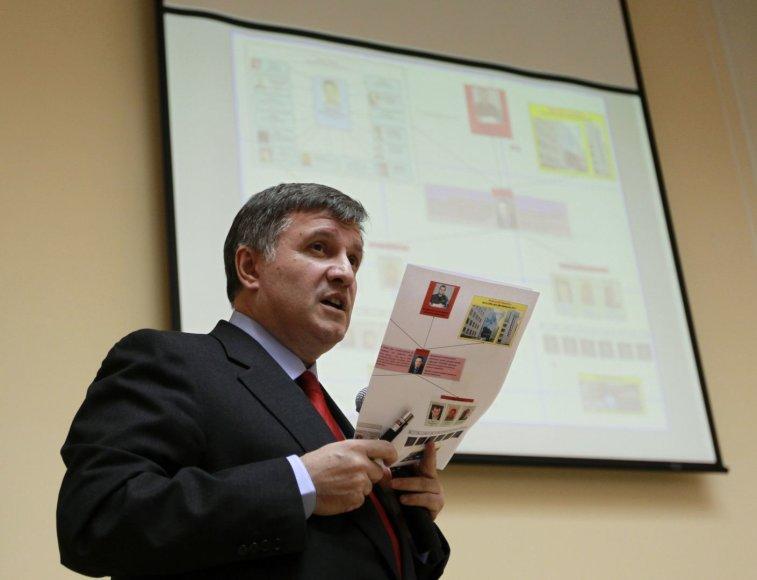 Ukrainos vidaus reikalų ministras Arsenas Avakovas