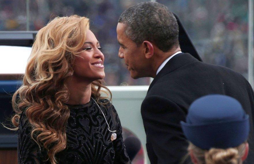Beyonce ir Barackas Obama