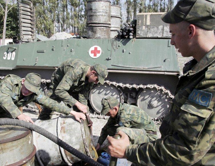 """Rusijos """"taikdariai"""" Gruzijoje 2008 m."""