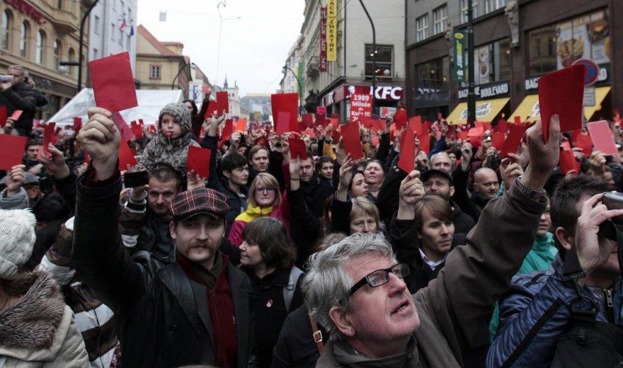 Demonstrantai Prahoje