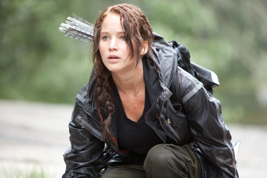 "Jennifer Lawrence filme ""Bado žaidynės"""