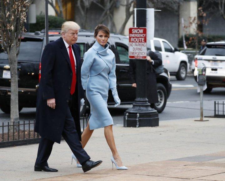 """""""Scanpix""""/AP nuotr./Donaldas Trumpas ir Melania Trump"""