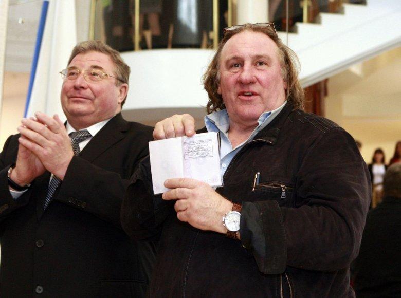 Rusijos pilietybė gavęs Prancūzijos aktorius Gerardas Depardieu