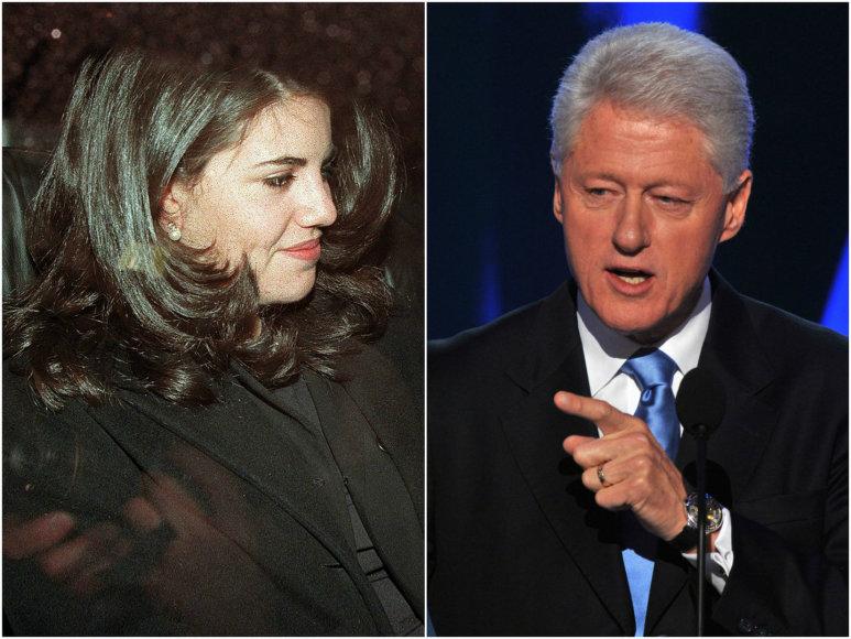 Monica Lewinsky ir Billas Clintonas.