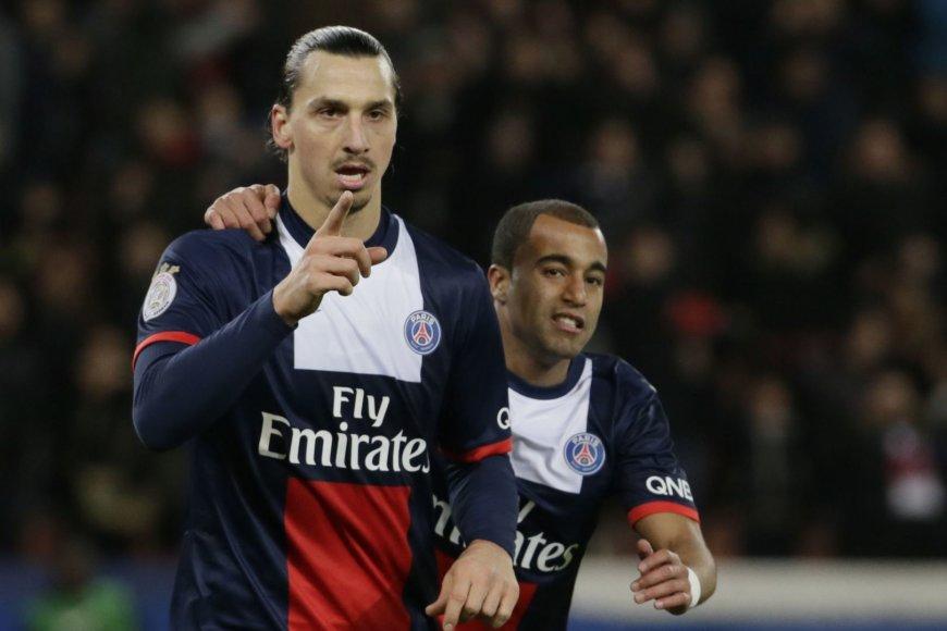 Zlatanas Ibrahimovičius ir Lucasas Moura