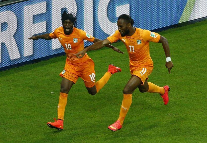 Gervinho ir Didier Drogba