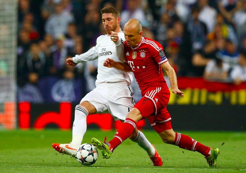 Sergio Ramosas ir Arjenas Robbenas